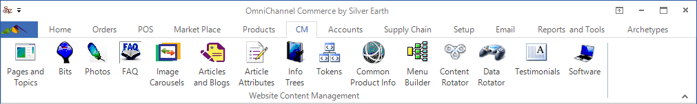 OmniChannel Content Management Menu